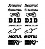 Decal SPONSORS 1  16 pcs
